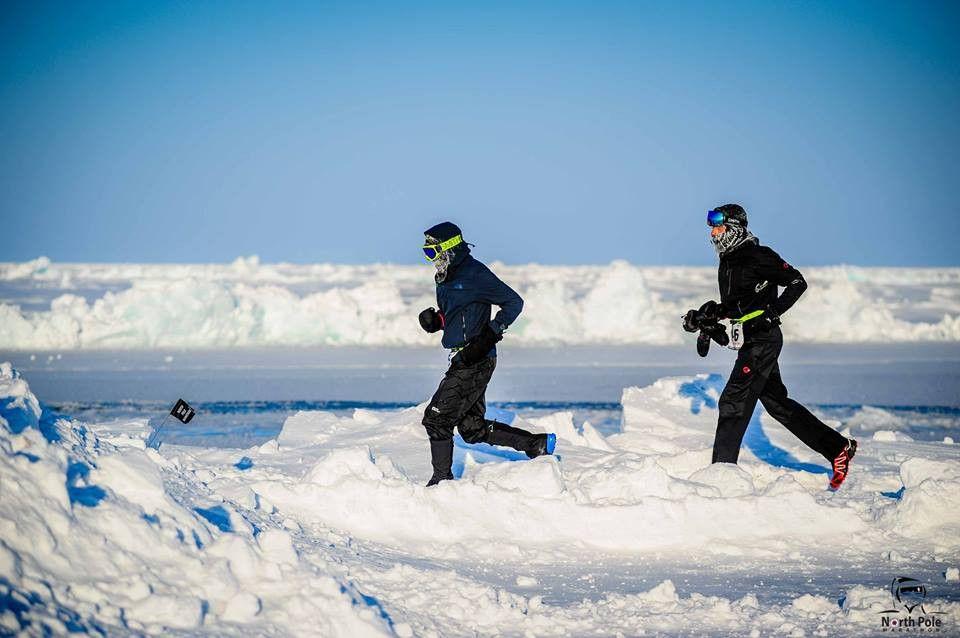 A 33 grados bajo cero en el Maratón del Polo Norte