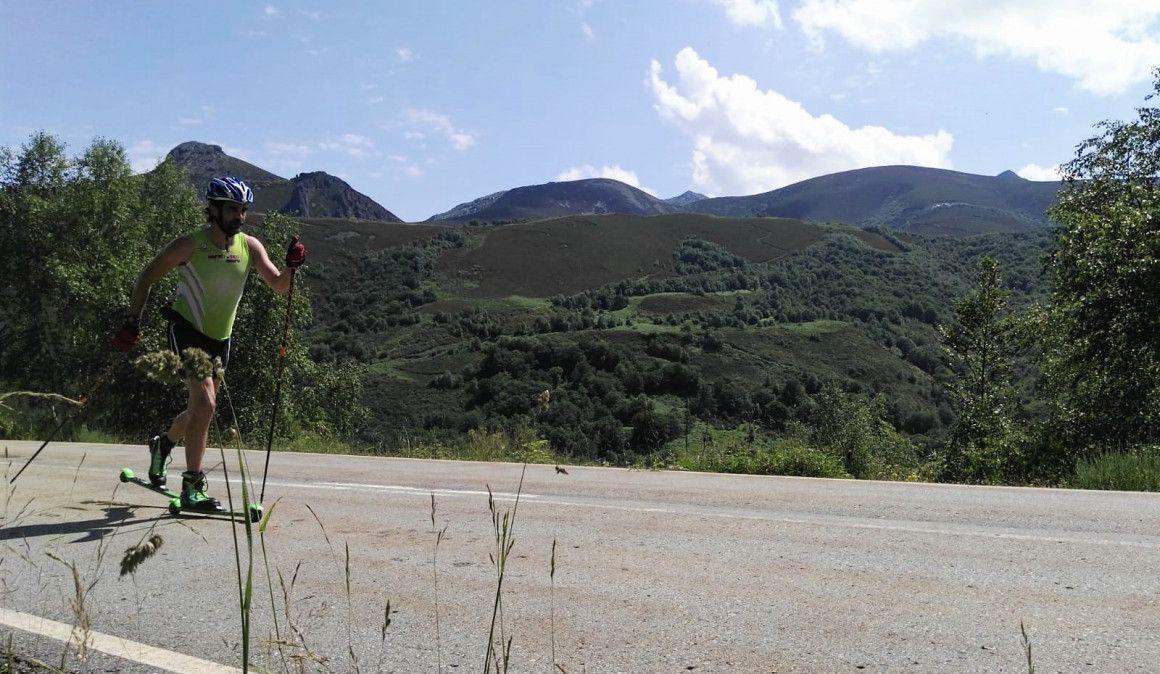 Marcos Cousido encadena 5 gigantes asturianos en rollerski