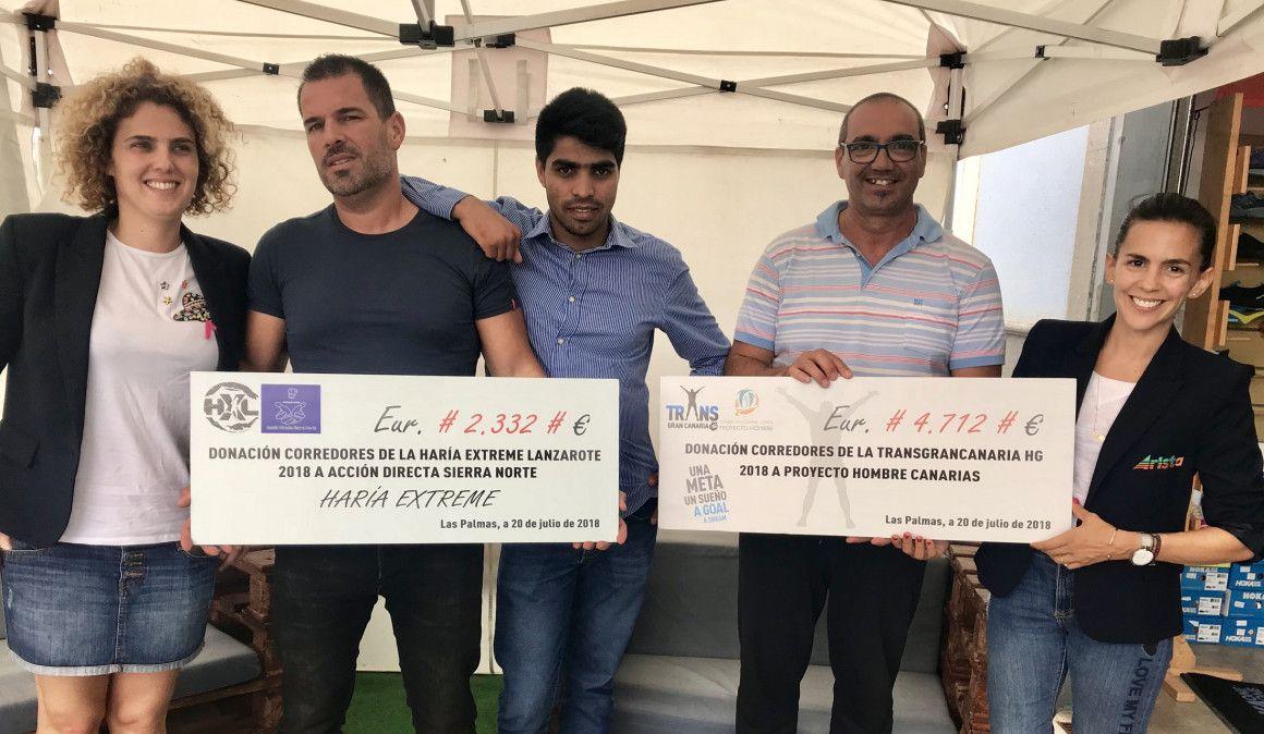 Arista entrega las donaciones de Transgrancanaria y Haría Extreme