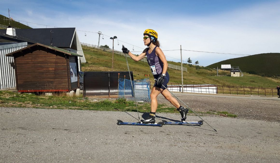 El Rollerski gana adeptos en Asturias