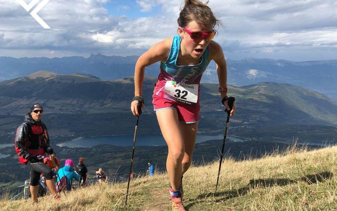 Axelle  Mollaret bate el récord del mundo femenino de Kilómetro Vertical