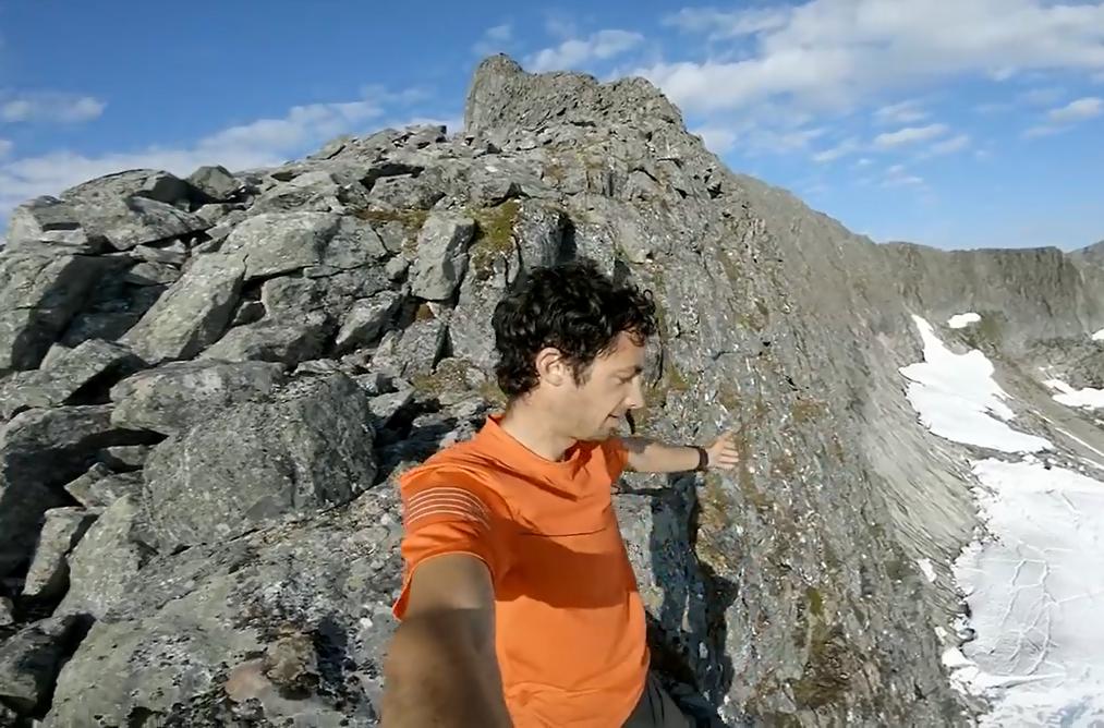 El asombroso video de Kilian por las crestas de Anslasnes (Noruega)