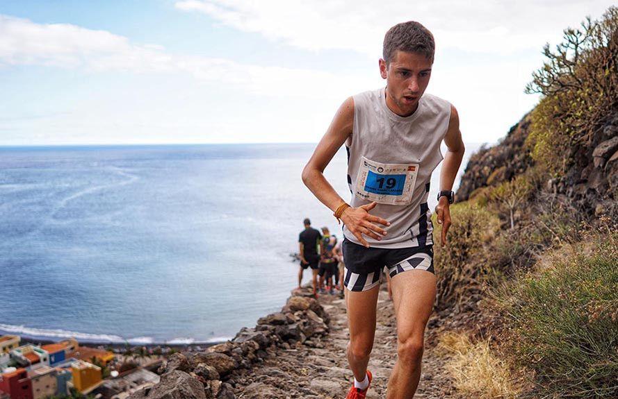 Daniel Osanz y Jessica Pardin ganan el Kilómetro Vertical de Transvulcania