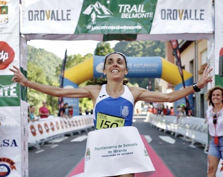 La Campeona de España de Maratón Verónica Pérez, primera en Trail Belmonte