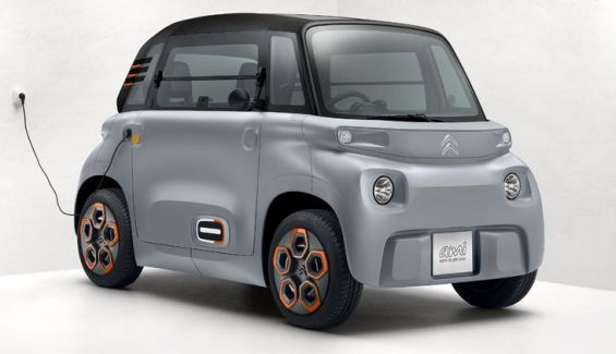 El Citroën Ami se recarga como un smartphone en un enchufe casero