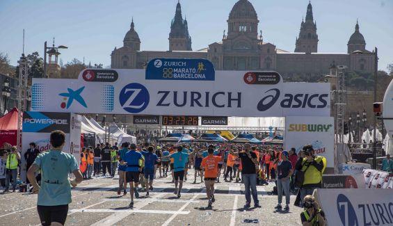 Imagen del maratón de Barcelona en su edición de 2019