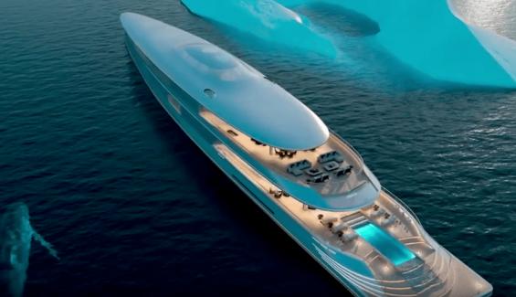Sinot Aqua, el yate impulsado por hidrógeno de Bill Gates
