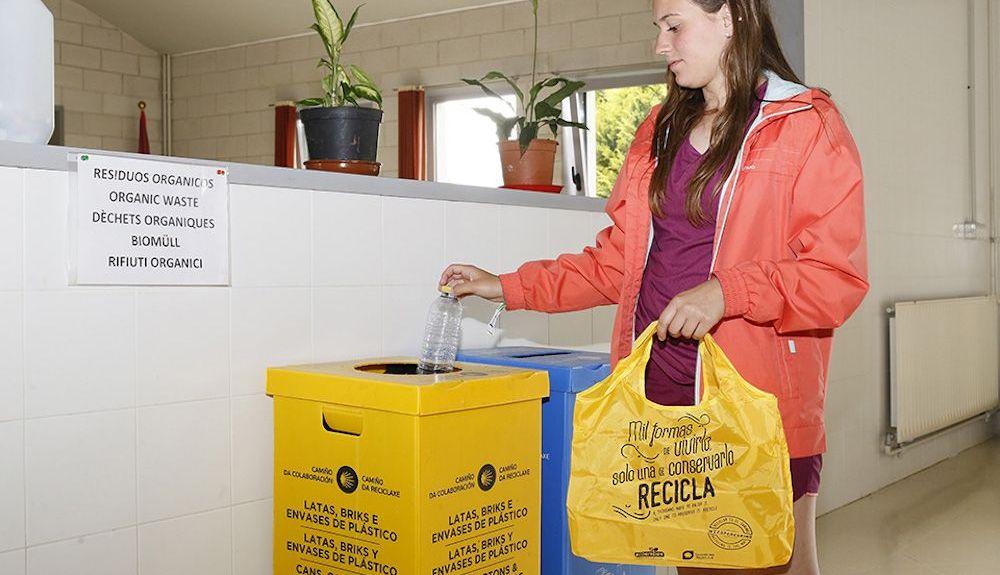 Los albergues adheridos al programa son una referencia en el Camino del Reciclaje.