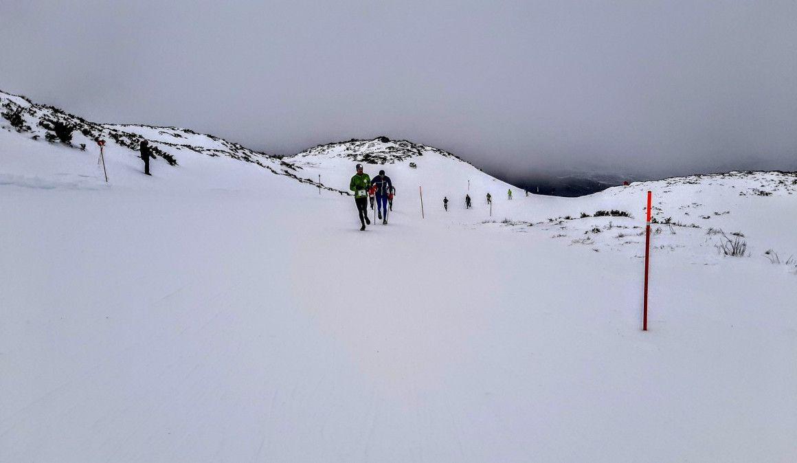 Núria Domínguez y Thibaut Bertrand líderes de la Copa de España de Snowrunning