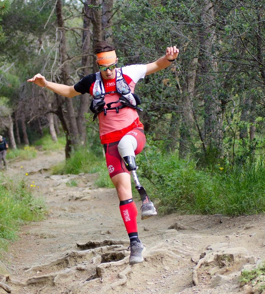 Dani Nafría: amputado, corredor y triatleta
