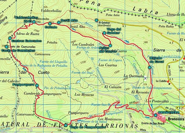 Ruta por el Torreón de Valdecebollas