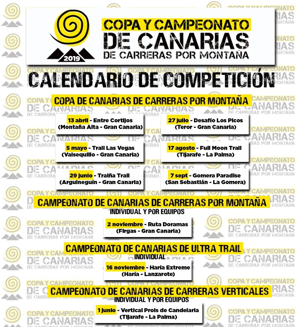 Calendario en Canarias de Carreras (FECAMON) 2019: inscripciones, fechas, recorridos.
