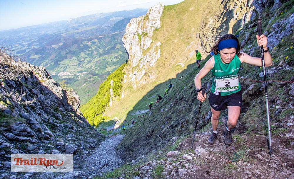Oriol Cardona y Ainhoa Sanz ganadores del Kilómetro Vertical de Zegama