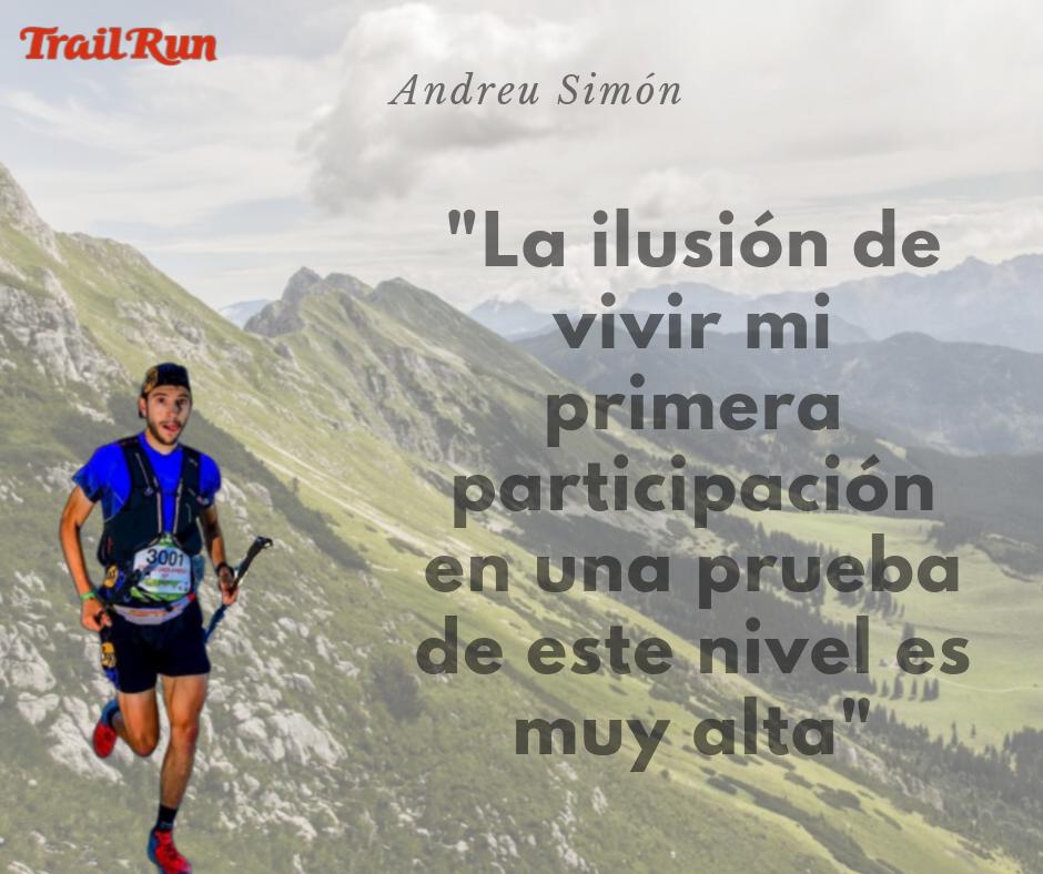 Andreu Simón ante su primera cita en Chamonix