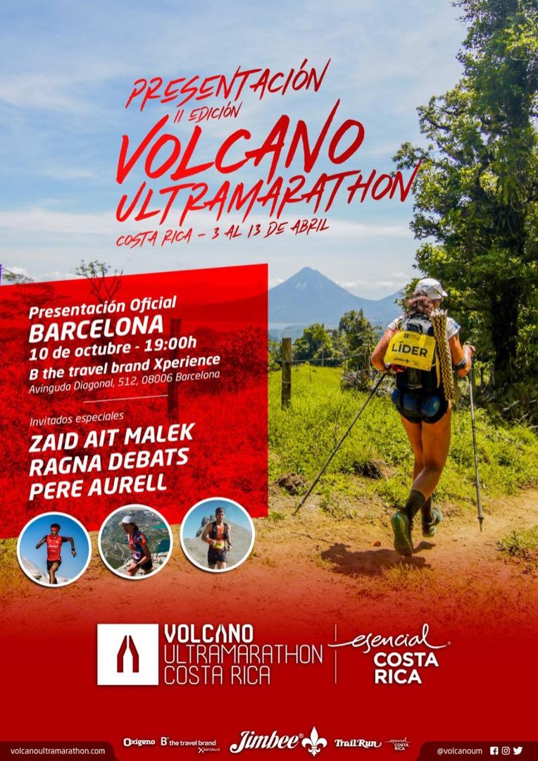 Presentación de La Volcano UltraMarathon 2020 en Barcelona