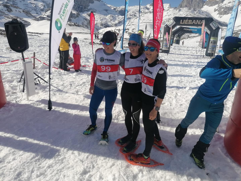 Manuel Merillas y Lucía Ibáñez Campeones de España de Raquetas de Nieve 2020 en la Picos Snow Running